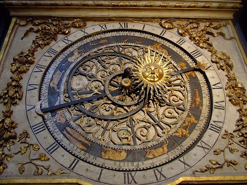 Astrological Clock at the Cathedrale St Jean in Lyon